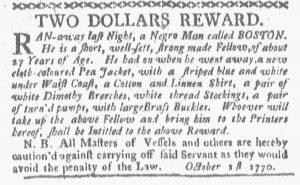 Oct 15 1770 - Boston-Gazette Slavery 4
