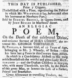 Oct 15 1770 - Massachusetts Gazette and Boston Post-Boy Slavery 2