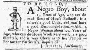 Oct 15 1770 - Massachusetts Gazette and Boston Post-Boy Slavery 3
