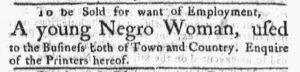 Oct 15 1770 - Massachusetts Gazette and Boston Post-Boy Slavery 4