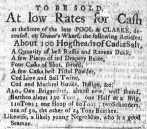 Oct 15 1770 - Massachusetts Gazette and Boston Post-Boy Slavery 5