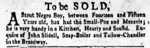 Oct 15 1770 - New-York Gazette and Weekly Mercury Slavery 4