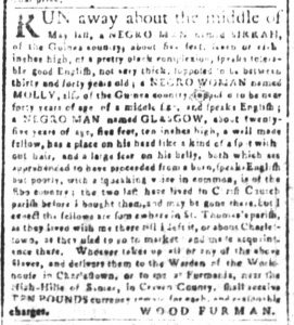 Oct 15 1770 - South-Carolina and American General Gazette Slavery 1