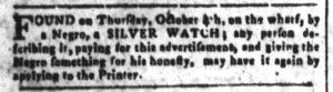 Oct 15 1770 - South-Carolina and American General Gazette Slavery 4