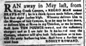 Oct 15 1770 - South-Carolina and American General Gazette Slavery 5