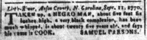 Oct 15 1770 - South-Carolina and American General Gazette Slavery 6