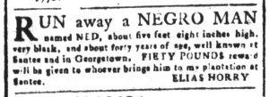 Oct 15 1770 - South-Carolina and American General Gazette Slavery 7