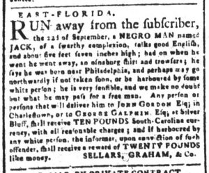 Oct 15 1770 - South-Carolina and American General Gazette Slavery 8