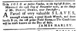 Oct 16 1770 - South-Carolina Gazette and Country Journal Slavery 11