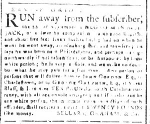 Oct 3 1770 - South-Carolina and American General Gazette Slavery 3