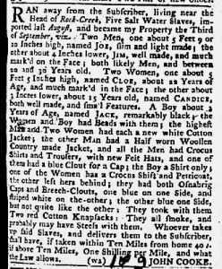 Oct 4 1770 - Maryland Gazette Slavery 2