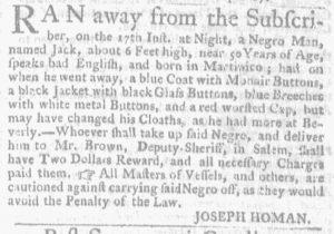 Oct 4 1770 - Massachusetts Gazette and Boston Weekly News-Letter Slavery 4