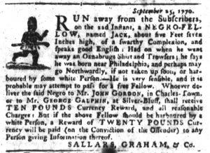 Oct 4 1770 - South-Carolina Gazette Slavery 4