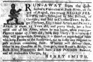 Oct 4 1770 - South-Carolina Gazette Slavery 7