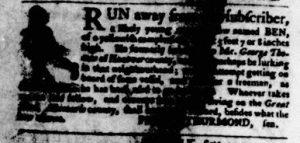 Oct 4 1770 - Virginia Gazette Purdie & Dixon Slavery 4