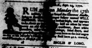 Oct 4 1770 - Virginia Gazette Purdie & Dixon Slavery 5