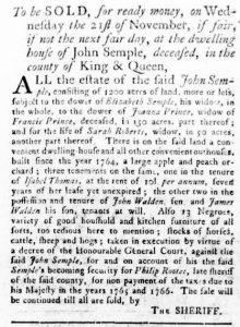 Oct 4 1770 - Virginia Gazette Rind Slavery 1