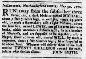 Oct 4 1770 - Virginia Gazette Rind Slavery 4