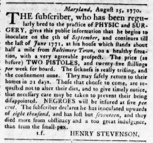 Oct 4 1770 - Virginia Gazette Rind Slavery 5