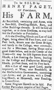 Oct 6 1770 - Providence Gazette Slavery 2