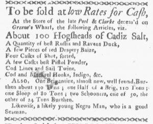 Oct 8 1770 - Boston-Gazette Slavery 2