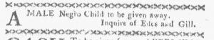 Oct 8 1770 - Boston-Gazette Slavery 3