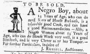 Oct 8 1770 - Massachusetts Gazette and Boston Post-Boy Slavery 1