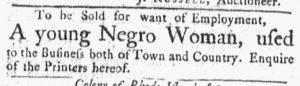 Oct 8 1770 - Massachusetts Gazette and Boston Post-Boy Slavery 2