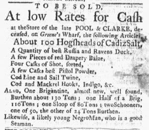 Oct 8 1770 - Massachusetts Gazette and Boston Post-Boy Slavery 3