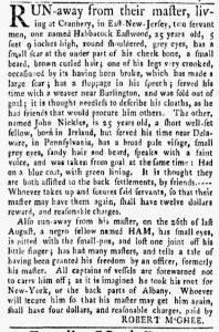 Oct 8 1770 - New-York Gazette and Weekly Mercury Slavery 3