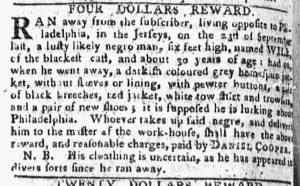 Oct 8 1770 - Pennsylvania Chronicle Slavery 1