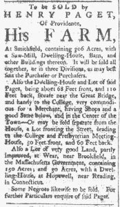 Sep 1 1770 - Providence Gazette Slavery 2