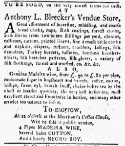 Sep 10 1770 - New-York Gazette and Weekly Mercury Slavery 2