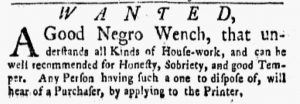 Sep 10 1770 - New-York Gazette and Weekly Mercury Slavery 6