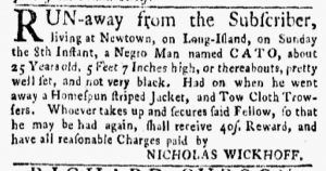 Sep 10 1770 - New-York Gazette and Weekly Mercury Supplement Slavery 1