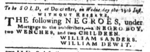 Sep 11 1770 - South-Carolina Gazette and Country Journal Slavery 4