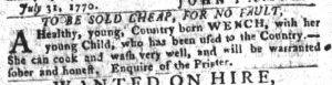Sep 11 1770 - South-Carolina Gazette and Country Journal Slavery 9
