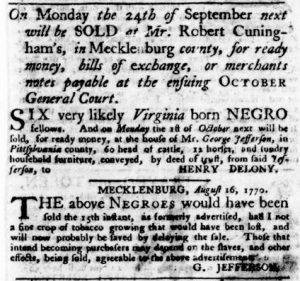 Sep 13 1770 - Virginia Gazette Purdie & Dixon Slavery 11