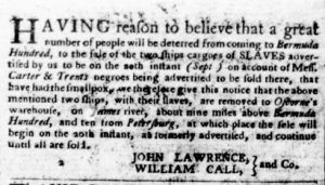 Sep 13 1770 - Virginia Gazette Purdie & Dixon Slavery 2