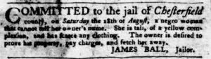 Sep 13 1770 - Virginia Gazette Purdie & Dixon Slavery 3