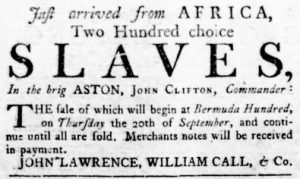 Sep 13 1770 - Virginia Gazette Rind Slavery 3