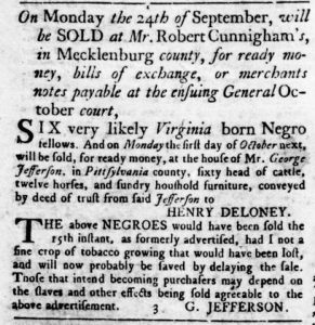 Sep 13 1770 - Virginia Gazette Rind Slavery 4