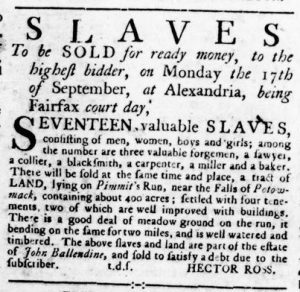 Sep 13 1770 - Virginia Gazette Rind Slavery 7
