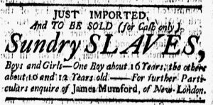 Sep 14 1770 - New-London Gazette Slavery 1
