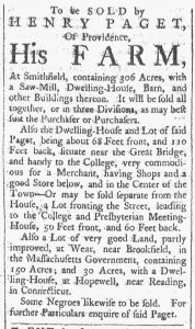 Sep 15 1770 - Providence Gazette Slavery 2