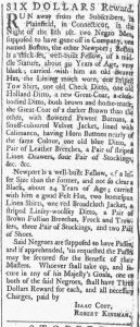 Sep 15 1770 - Providence Gazette Slavery 3