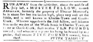 Sep 18 1770 - South-Carolina Gazette and Country Journal Slavery 2