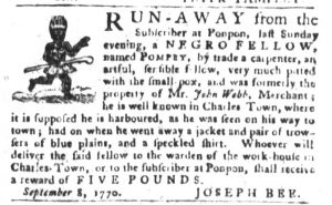 Sep 18 1770 - South-Carolina Gazette and Country Journal Slavery 3
