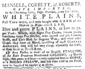 Sep 18 1770 - South-Carolina Gazette and Country Journal Slavery 5