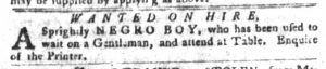 Sep 18 1770 - South-Carolina Gazette and Country Journal Slavery 6